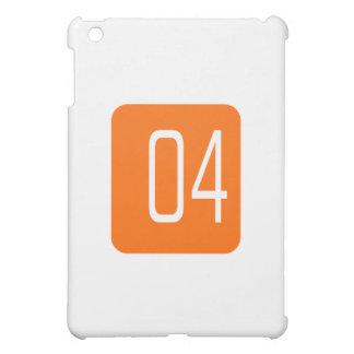 #4 Orange Square Case For The iPad Mini