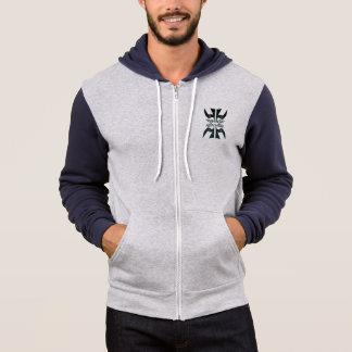 4 peace birds zippered hoodie
