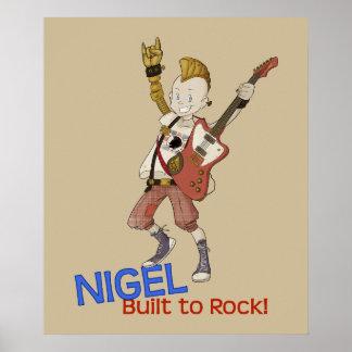 4 petits monstres - Nigel Affiche