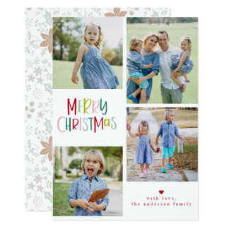 4 Photo Typography Holiday Card