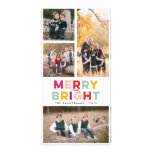 4 Photos Merry Bright and Colourful Photo Cards
