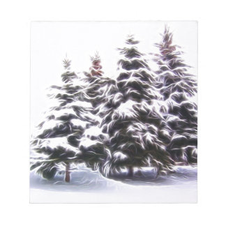 4 Pine tree with snow Notepad