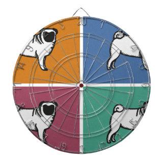 4 Pugs Dartboard