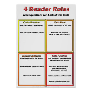 4 Reader Roles Poster Lou Van Loon