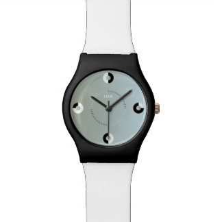 4 RINGS | black and white circles Wristwatch