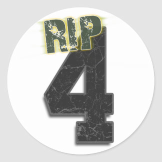 #4 RIP Brett Favre Funeral Sticker (decal)