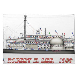 4 robert e lee flags placemat