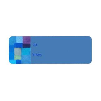 4 Seasons Winter danube Gift Tag Sticker Return Address Label