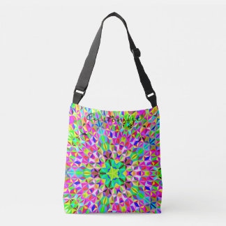 4 sided polygon star Thunder_Cove multi-color Crossbody Bag