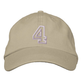 """""""4"""" Small Athletic Number Embroidered Hat"""