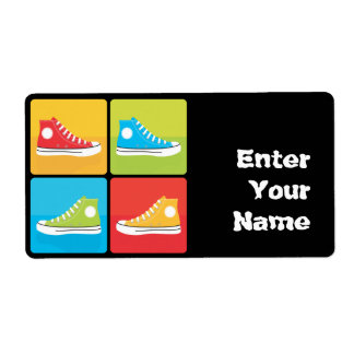 4 Sneakers Shipping Label