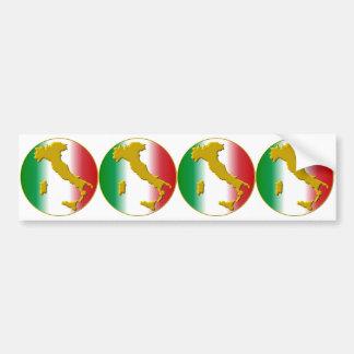 4 stickers automobile carossery viva italia