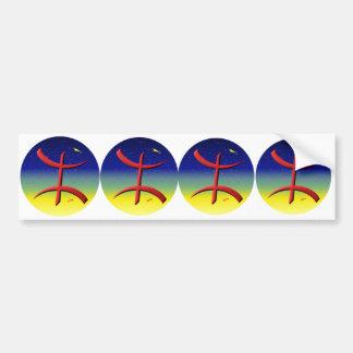 4 stickers Berber automobile carossery amazigh Bumper Sticker