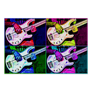 4 String Bass Poster