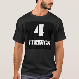 4 Strings T-Shirt for Bassists (bass guitar)