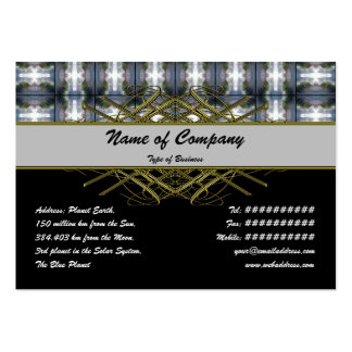 4 Waves Grid HDR Pack Of Chubby Business Cards
