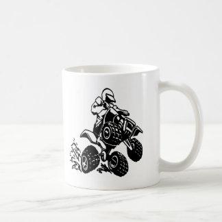 4 Wheel Quad Racing Classic White Coffee Mug