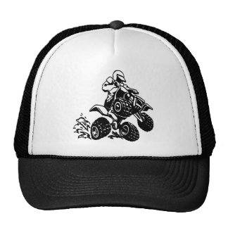 4 Wheel Quad Racing Trucker Hat