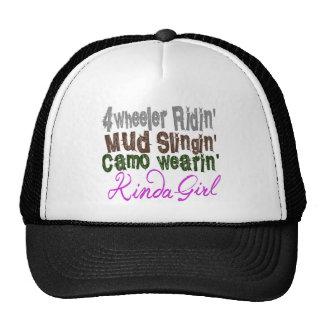 4 wheeler ridin mud slingin camo wearin kinda girl trucker hat