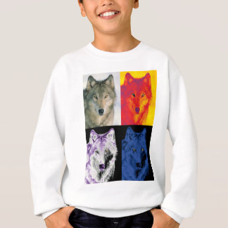 4 Wolf Faces Sweatshirt