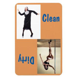"4"" x 6"" Dancing Nun & Sexy Dancer Clean/Dirty Magnet"