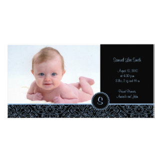 4 x 8 Photo Card Elegant Blue (B)