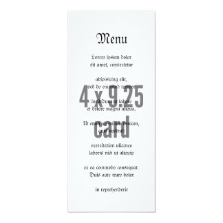 "4 x 9.25 Tea Length Vertical 4"" X 9.25"" Invitation Card"