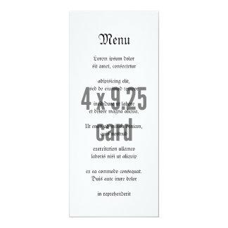 "4 x 9.25 Tea Length Vertical 4"" X 9.25"" Invitation Card"