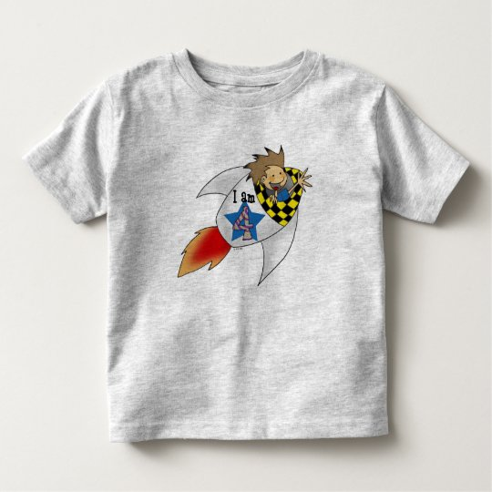 4 year old boy in a rocket toddler t-shirt