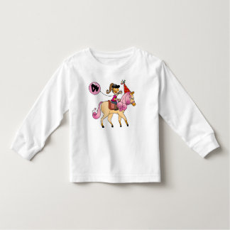 4 year old girl on a pony toddler t-shirt