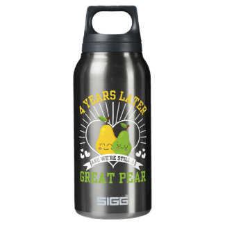 4 Years Later Were Still Great Pear Shirt Insulated Water Bottle