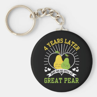 4 Years Later Were Still Great Pear Shirt Keychain