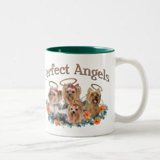 4 Yorkie Perfect Angels Coffee Mug