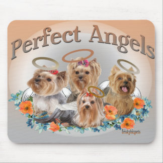 4 Yorkie Perfect Angels mousepad
