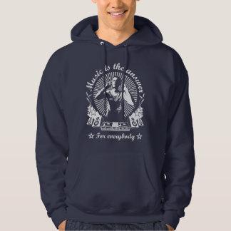 4DJS Music IS the answer Moleton Sweatshirt À Capuche