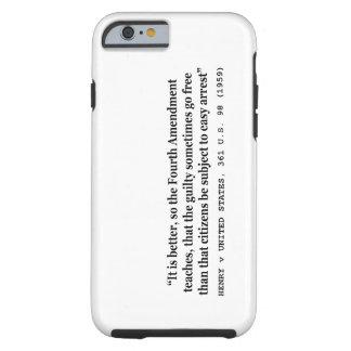 4ème amendement 1959 de HENRY v ETATS-UNIS 361 USA Coque Tough iPhone 6