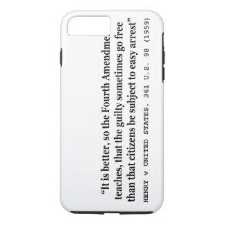 4ème amendement 1959 de HENRY v ETATS-UNIS 361 USA Coque iPhone 7 Plus