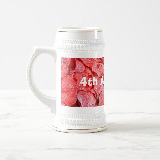 4ème anniversaire de mariage - Hydranga Mug
