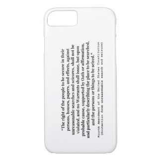 4ème Modification de la constitution d'Etats-Unis Coque iPhone 7