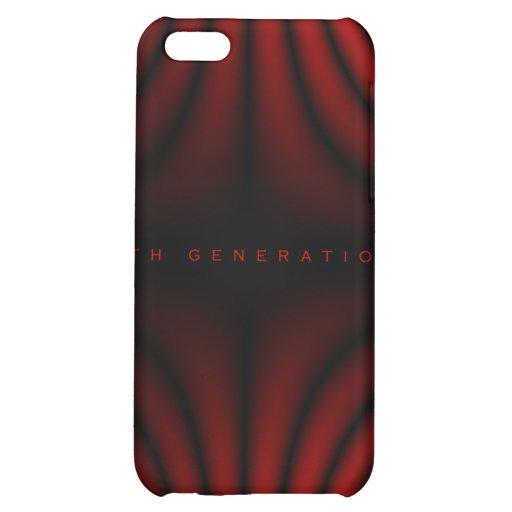 4ème Plis de lumière de génération - rouge Coque Pour iPhone 5C