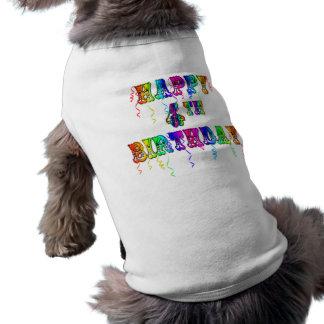 4ème police heureuse de cirque d'anniversaire vêtement pour chien