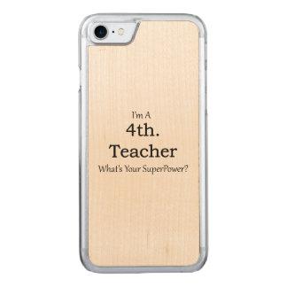 4ème. Professeur de catégorie Coque En Bois iPhone 7
