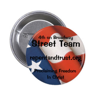 4ème Sur le bouton d équipe de rue de Broadway Pin's Avec Agrafe