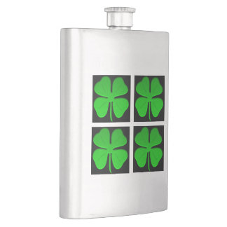#4leafclover flask by DAL