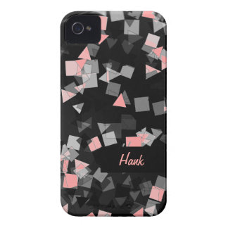 4Pink Confetti Custom Name iPhone 4 Case