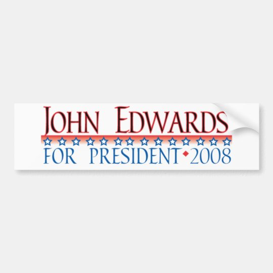 4prez-edwards bumper sticker