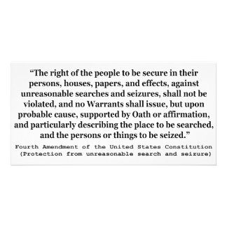 4th Amendment of the United States Constitution Customized Photo Card