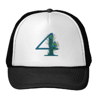 4th anniversary / 4 / 4th / number 4 trucker hat