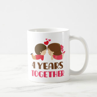 4th Anniversary Gift For Her Coffee Mug
