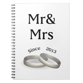 4th anniversary matching Mr. And Mrs. Since 2013 Spiral Notebook